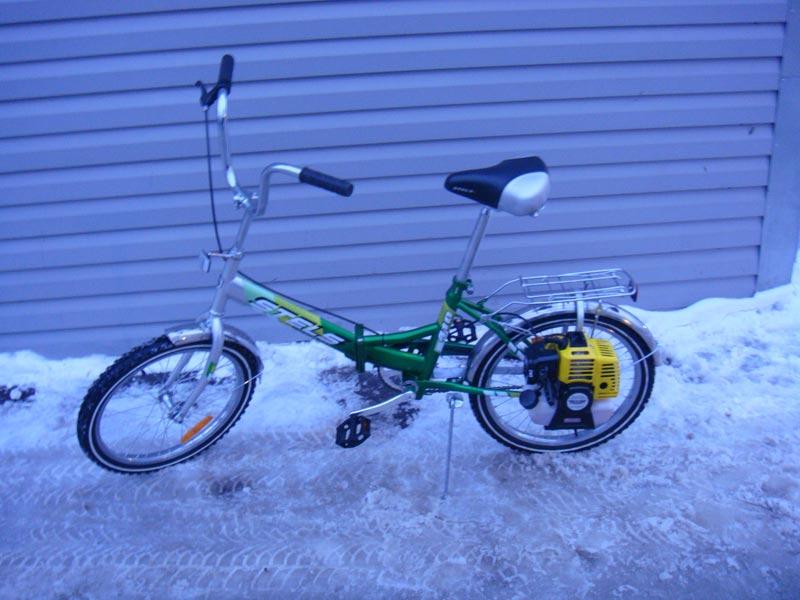 Велосипед с мотором электро или бензиновый ... - веломотор